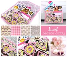 Sweet Bedside Caddy (Sewing Tips & Tricks) Fabric Crafts, Sewing Crafts, Sewing Projects, Projects To Try, Diy Crafts, Petra, Sewing Hacks, Sewing Tutorials, Sewing Patterns