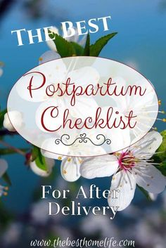 The Best Postpartum Checklist for After Delivery: Be prepared for your postpartum period after delivery. Get the list you are needing all in one spot. pregnancy | #postpartum | pregnant | mommy care | delivery | labor | momlife |