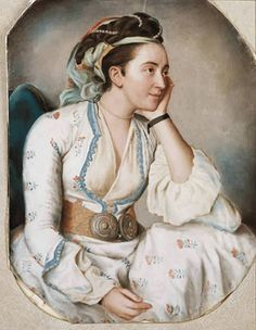 Portrait of the artist's wife, Marie Fargues (ca.1718-1784), in Turkish dress, Liotard