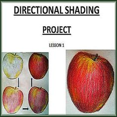 how to draw an apple with shading
