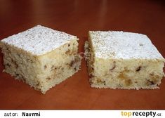 Margot buchta II. recept - TopRecepty.cz Krispie Treats, Rice Krispies, Cornbread, Vanilla Cake, Feta, Food And Drink, Cheese, Ethnic Recipes, Decor