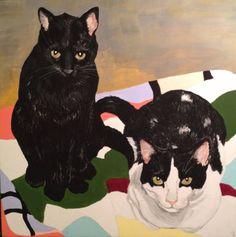 Gordon & Walter, Acryla-Gouache on panel, 10x10, by Liz Carlson Arts and Illustration, 2015