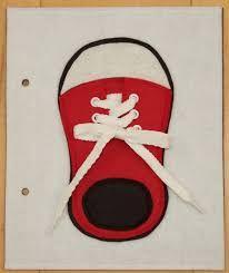 Resultado de imagen de plantilla de zapatilla para quiet book