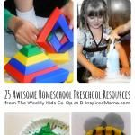 Awesome Homeschool Preschool Resources from The Weekly Kids Co-Op