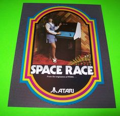 SPACE RACE By ATARI 1973 ORIGINAL NOS VIDEO ARCADE GAME PROMO SALES FLYER #Atari #SpaceRace #ArcadeGameFlyer