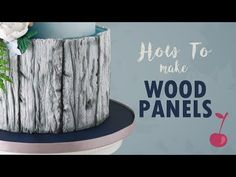 wedding cakes fondant How to Make Rustic Wood Panels Fondant Tree, Fondant Cakes, Fondant Recipes, Fondant Flowers, Fondant Figures, Cake Recipes, Wood Cake, Cake Decorating Videos, Cake Decorating Techniques