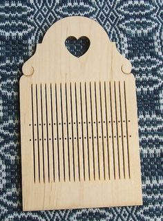 Hard maple double hole tape loom by finnsheep on Etsy