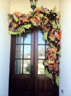 Halloween Door from periwinkle pink