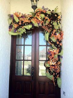 Halloween Door from periwinkle pink
