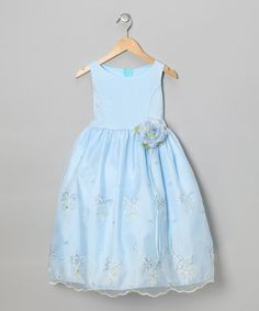 Take a look at this Blue Embroidered Floral Dress - Toddler & Girls by Kid's Dream on #zulily today!