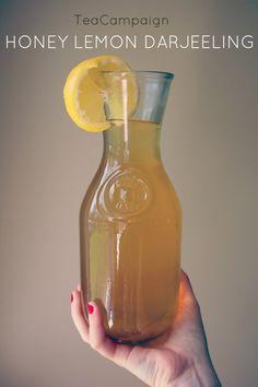 Iced HONEY LEMON DARJEELING tea. http://www.teacampaign.ca/blogs/news/19274244-iced-honey-lemon-darjeeling-tea