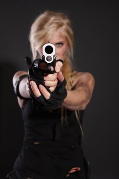 Tomb Raider/ Sarah Connor like Stock - Aiming Art Reference by Kayla Davion (kayladavion.deviantart.com) on @deviantART