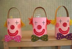 Carnaval - Ideas - Walking to a New World! Kids Crafts, Clown Crafts, Circus Crafts, Carnival Crafts, Summer Crafts, Preschool Crafts, Arts And Crafts, Preschool Circus, Circus Activities