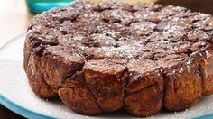 A monkey bread for the chocolate lovers--indulgent chocolate-stuffed dough rolled in sugar and cocoa.