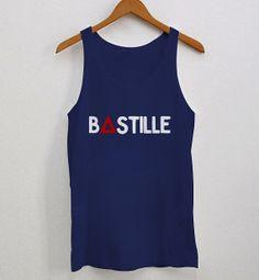 Bastille Band Tank Top Logo Band Bastille Woman by Sarimbittees, $19.99