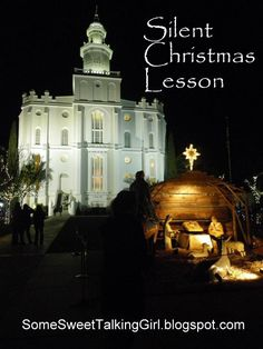 LDS Young Women, Silent Christmas Lesson- could tweak to FHE or a younger crowd. Mutual Activities, Young Women Activities, Church Activities, Relief Society Lessons, Relief Society Activities, Fhe Lessons, Primary Lessons, Young Women Lessons, Family Home Evening