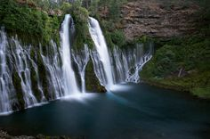 Burney Falls | Burney, CA You don't have to worry about catching these falls on a good day as they pretty much never stop flowing thanks to the underground springs that feed into them from above. At 129ft-high and 250ft-wide, the whole thing is pretty massive, flowing 100 million gallons of water every day into Lake Britton. Bonus: The falls sit within pine-dotted McArthur-Burney Falls Memorial State Park, a solid spot for hiking, fishing, and camping