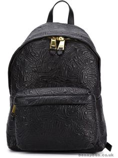 Moschino stitched logo backpack cedar/coffee bean Women's Backpacks 11107571