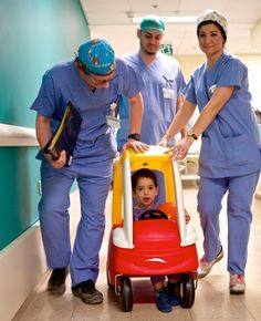 Forget wheelchairs--Israeli hospitals are wheeling young patients to surgery in pedal cars to alleviate the patients' anxiety.