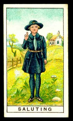 Tradecard - Girl Guide Salute | Flickr - Photo Sharing!