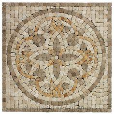 Travertine Mosaic Medallion Tile - O-Stone Co., Limited