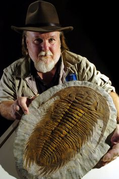 Large Trilobite...PaleoJoe at Penn Dixie last year!