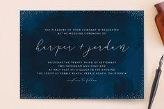 """tiny dots"" - Wedding Invitations in Sapphire by Erin Deegan."