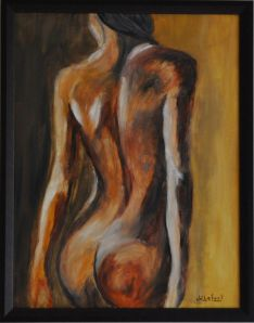 Femme de dos Sexy Painting, Figure Painting, Oil Painting Abstract, Paar Illustration, Back Art, Anatomy Art, Portrait Art, Erotic Art, African Art