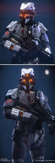 Killzone Shadow Fall Spec-op by bischoff Thought Hashtags: Cyberpunk, Character Concept, Character Art, Character Design, Science Fiction, Killzone Shadow Fall, Futuristic Armour, Sci Fi Armor, Future Soldier
