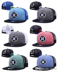 Hurley Cap Summer Street Snapback Hats Fashion Men Woman Hip Hop Casquette  Baseball Sport Panel Popular More Colors Ball Gorras mix order d6f4d6f46b0b