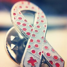 Measles Initiative Pin. Many of our Youth programs across the country sell these pins to raise money to help eradicate measles in third world countries.