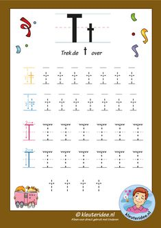 Preschool and Kindergarten Alphabet & Letters Worksheets Alphabet Tracing Worksheets, Alphabet Activities, Preschool Activities, Alphabet Letters, Letter T Words, Learning The Alphabet, Home Schooling, Kids Education, T 4