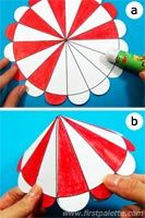 Color, cut out and assemble our printable circus tent templates into easy three-dimensional paper circus tents. Circus Crafts, Carnival Crafts, Carnival Themes, Fun Crafts, Crafts For Kids, Carnival Birthday Parties, Circus Birthday, Circus Theme, First Birthday Parties