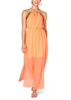 Embroidered Halter Maxi Dress | Maxi Dresses | rue21