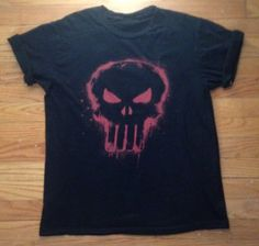 Punk Red Skull T-shirt by TraveledTees on Etsy
