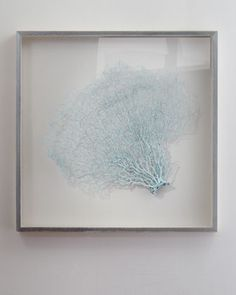 """Blue Haze"" Sea Fan Wall Decor by Karen Robertson Collection - this delicate sea fan adds coastal mystique and texture to any room"