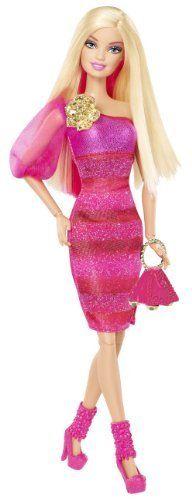 Barbie Fashionista Barbie Doll - Hot Pink Dress by Mattel $12.69