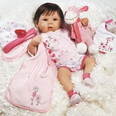 Great to Reborn Realistic Handmade Soft Bodied Baby Girl Doll in Lifelike Vinyl & Weighted Body from Paradise Galleries Tall Dreams Ensemble
