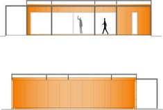 Side elevations of shipping container homes with wrap around deck, patio area. Algarve, Portugal, Wrap Around Deck, Deck Patio, Shipping Container Homes, Art And Architecture, Interiores Design, Layout, How To Plan