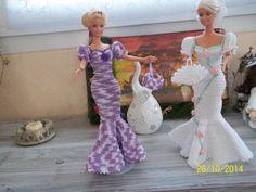 Crochet Barbie Clothes, Doll Clothes, Barbie Dress, Doll Crafts, Chrochet, American, Art Dolls, Marie, Creations