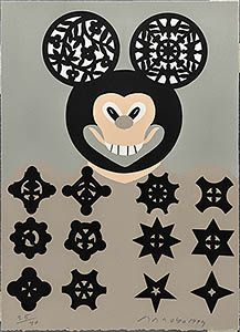 Eduardo Arroyo. Suite Senefelder. 51. Mickey Mouse en Rusia