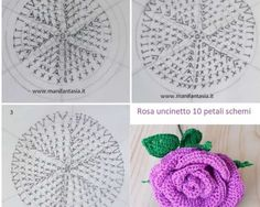 Watch The Video Splendid Crochet a Puff Flower Ideas. Phenomenal Crochet a Puff Flower Ideas. Diy Crafts Rose, Diy Crafts Crochet, Crochet Projects, Crochet Flower Patterns, Baby Knitting Patterns, Craft Patterns, Crochet Puff Flower, Crochet Flowers, Plastic Canvas Crafts
