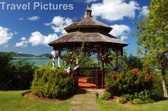 Canada's first nationwide specialists in destination weddings, honeymoons and romance travel vacations worldwide since Wedding Gazebo, Our Wedding, Wedding Ideas, St Lucia Weddings, Garden Gazebo, Hedges, Caribbean, Pergola, Outdoor Structures