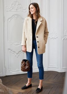 Sezane's Winter Collection Launched Today - Katie Considers - French brand Sezane launched their winter collection online an hour ago and several pieces have alr - Mode Outfits, Fashion Outfits, Womens Fashion, Fashion Trends, Fall Winter Outfits, Autumn Winter Fashion, Winter Wear, Minimalist Fashion French, Parisian Girl