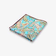 Imani Uomo Pattern 100/% Silk Pocket Square Hanky Set 2 of 2