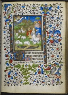 Annunciation to the Shepherds Book of Hours, Use of Paris France, Central (Paris); 1st quarter of the 15th century
