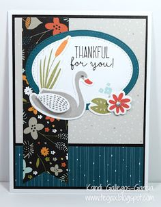"""teojax: """"Thankful for You"""" Swan Lake Thin Cuts card, CTMH, Close to My Heart, Z4007 Thankful for You Thin Cuts Bundle, C1655 Thankful for You"""