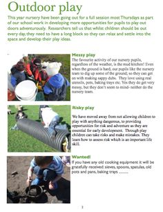 I'm a teacher, get me OUTSIDE here!: Keeping Parents Informed About Outdoor Learning