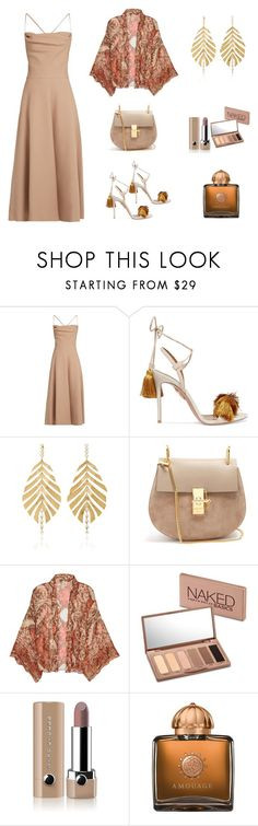 """Nude Summer Mix"" by scolab ❤ liked on Polyvore featuring Valentino, Aquazzura, Hueb, Chloé, Free People, Urban Decay, Marc Jacobs and AMOUAGE"