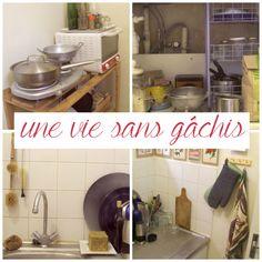 Une vie sans gâchis cuisine zéro déchet Zero Gachis, Zero Waste Home, Fee Du Logis, Flylady, Kitchen Aid Mixer, Clean House, Cleaning, How To Plan, Simple